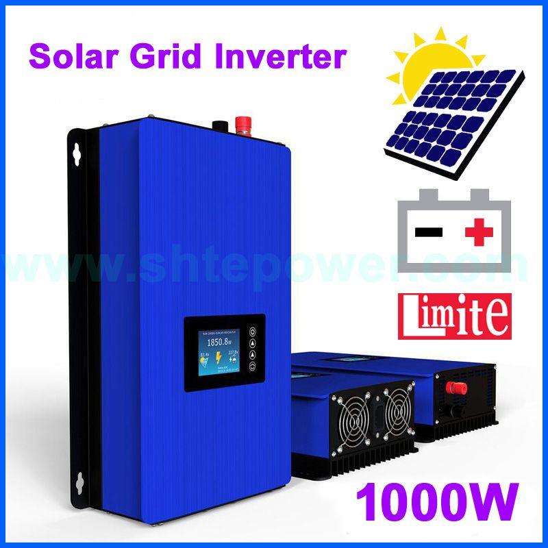 1000W Battery Discharge Power Mode/MPPT Solar Grid Tie Inverter with Limiter Sensor DC22-65V/45-90V AC 110V 120V 220V 230V 240V