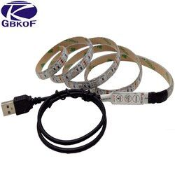 RGB Led Bande Lumières DC 5 V TV Rétro-Éclairage USB Led Flexible Bande 50 CM 1 M 2 M 3 M 4 M 5 M SMD5050 Tira Led Bande Bande Éclairage pour La Maison