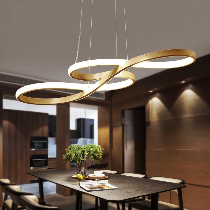 Led kronleuchter moderne minimalistischen wohnzimmer romantische schlafzimmer esszimmer lichter lamparas de techo colgante moderna abaju