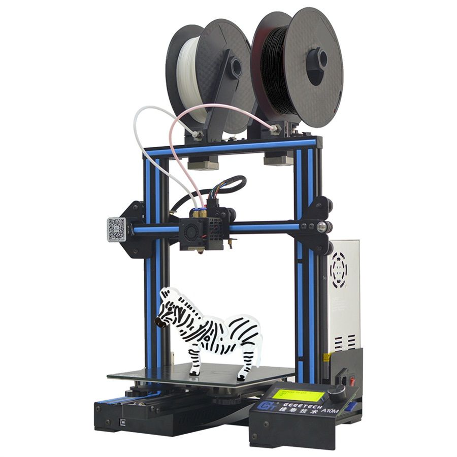 Geeetech A10M Mix-color Fast Assembly 3d Printer with High Speed Super Hotbed Filament Detector and Break-resuming Capability