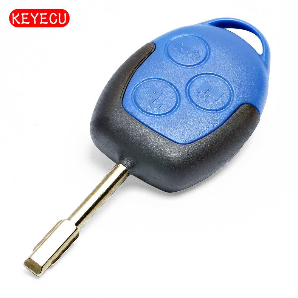 Keyecu удаленный ключевой 3 Кнопка FOB 433 мГц с чипом 4D63 для Ford Transit 2004-2010 Fo21 лезвие