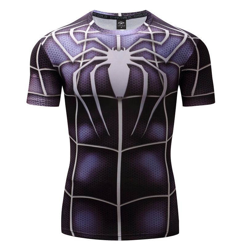 Short Sleeve 3D t shirts Men Compression Short Sleeve T-shirts Superhero Quick Dry Tops Bodybui