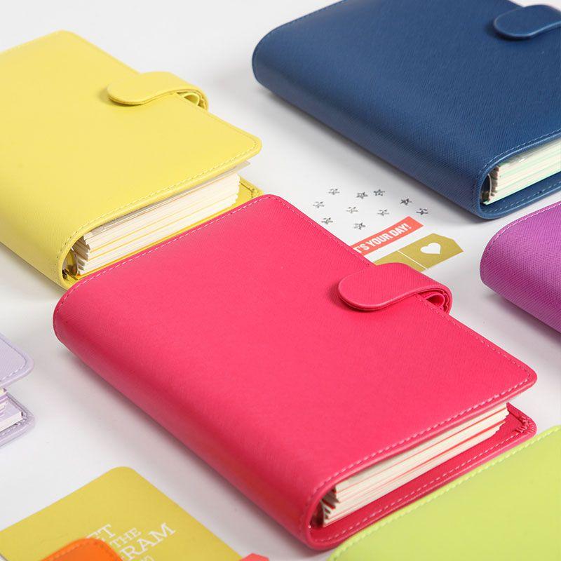 Lovedoki 2019 nouveau Dokibook couverture de couleur bonbon A5 A6 agenda de temps à feuilles mobiles organisateur série journal personnel mémos quotidiens
