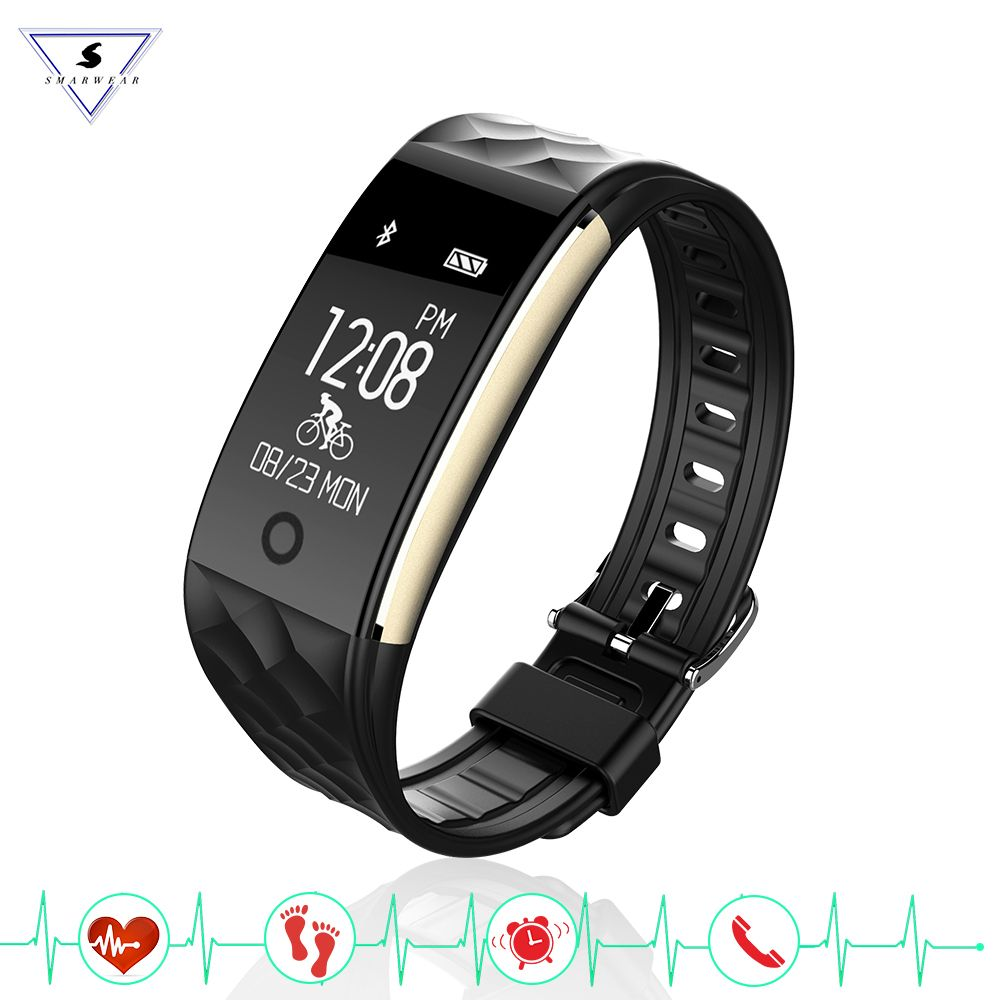 Ssmarwear S2 Smart Wristband Heart Rate Monitor band IP67 Sport Fitness Bracelet Tracker Bluetooth For Android IOS PK miband 2