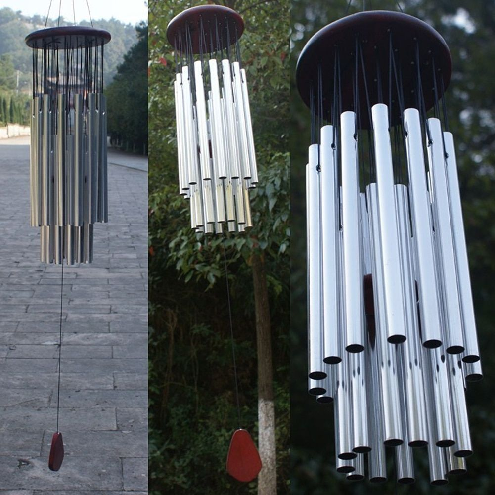 Antique 27 Tubes 5 Bells Wind Chimes Outdoor Living Yard Decoration Tubes Bells Wind Chimes Home Hanging Ornament