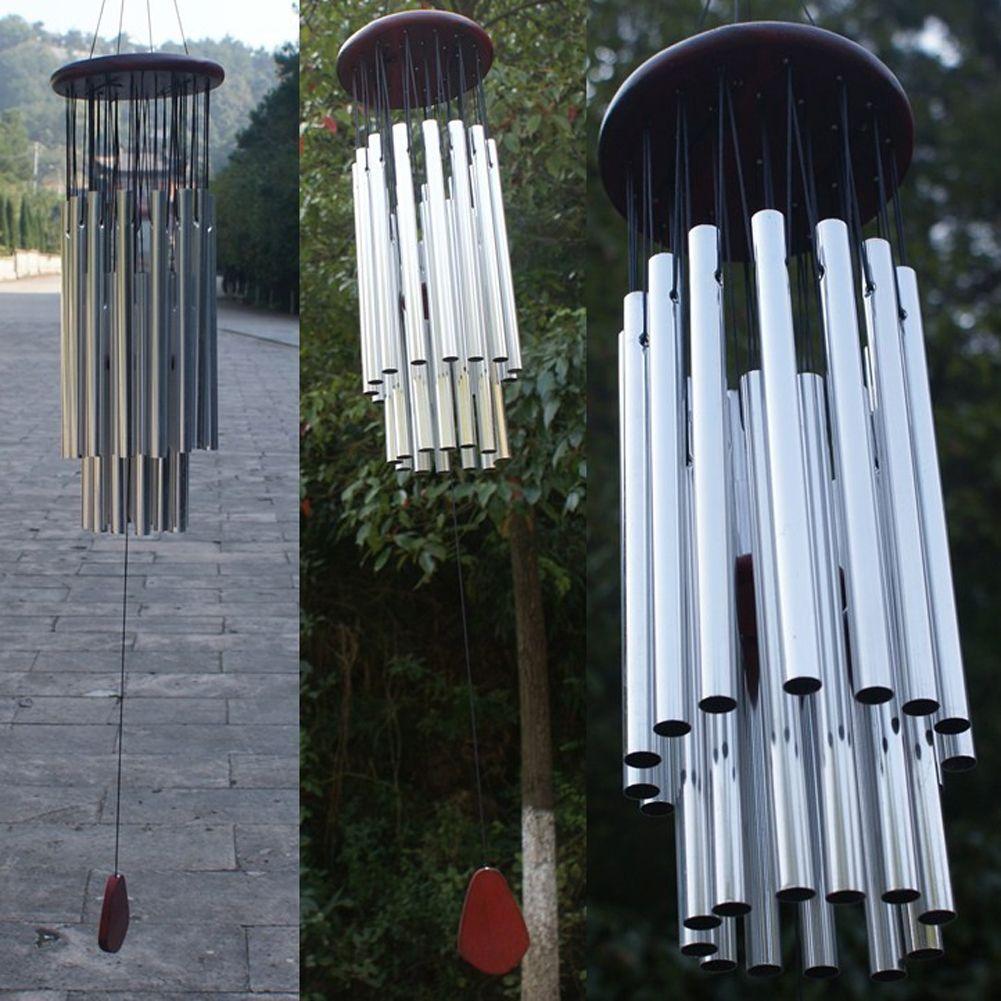 Antique 27 Tubes 5 Cloches Carillons Éoliens Vie En Plein Air Cour Décoration Tubes Cloches Carillons Éoliens Maison Suspendus Ornement