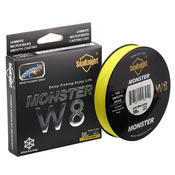 Quality Monster W8 Super Strong 300M 8 Strands Weaves PE Braided Fishing Line 20LB 30LB 40LB 50LB 80LB 100L Rope Multifilament