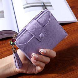 WESTERN AUSPICIOUS Women Wallet 2019 New Purple Blue Gray Black Wallet Female Zipper And Hasp Lady Card Holder