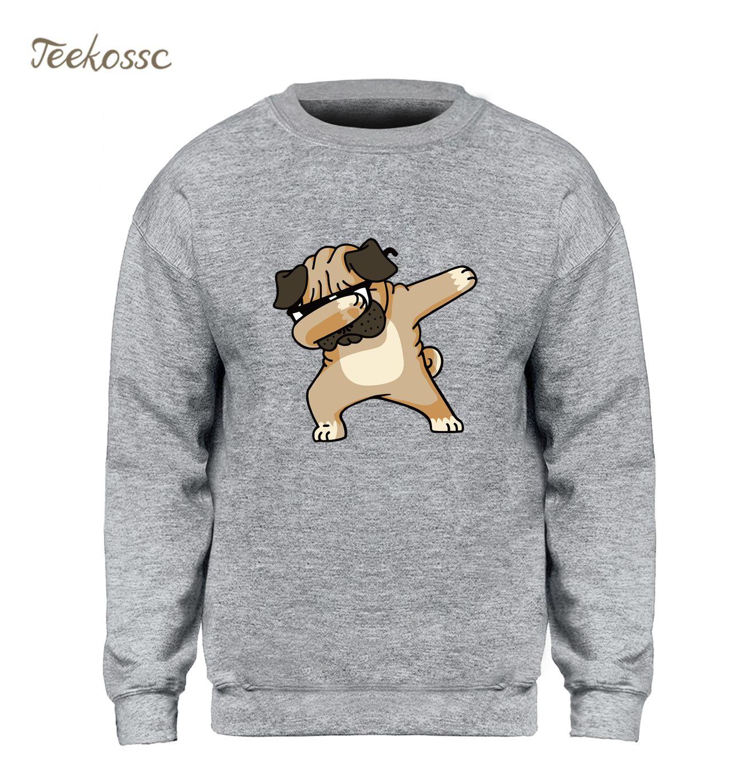 Dabbing carlin sweat hommes imprimer sweat à capuche drôle Kpop Hip Hop sweat-shirts à col rond hiver automne graphique Design marque vêtements
