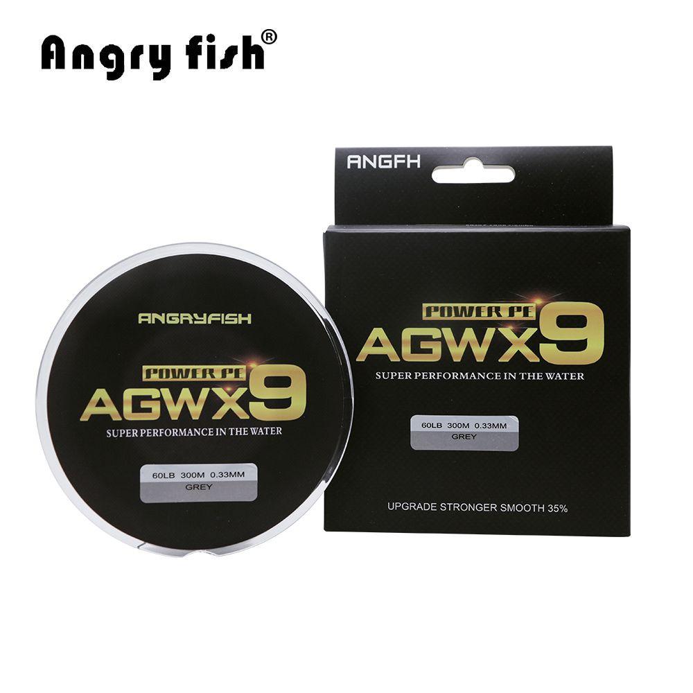 Angryfish 300 M 9 brins Super PE Tressé Ligne De Pêche Forte Résistance Ligne