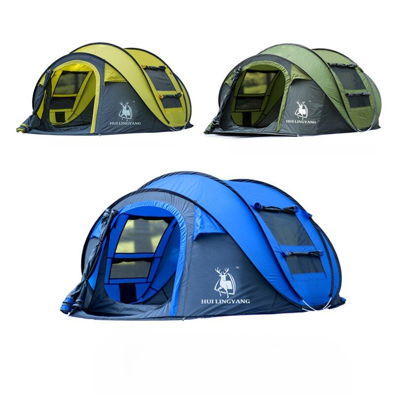 HLY Large throw <font><b>tent</b></font>!outdoor 3-4persons automatic speed open throwing pop up windproof waterproof beach camping <font><b>tent</b></font> large space