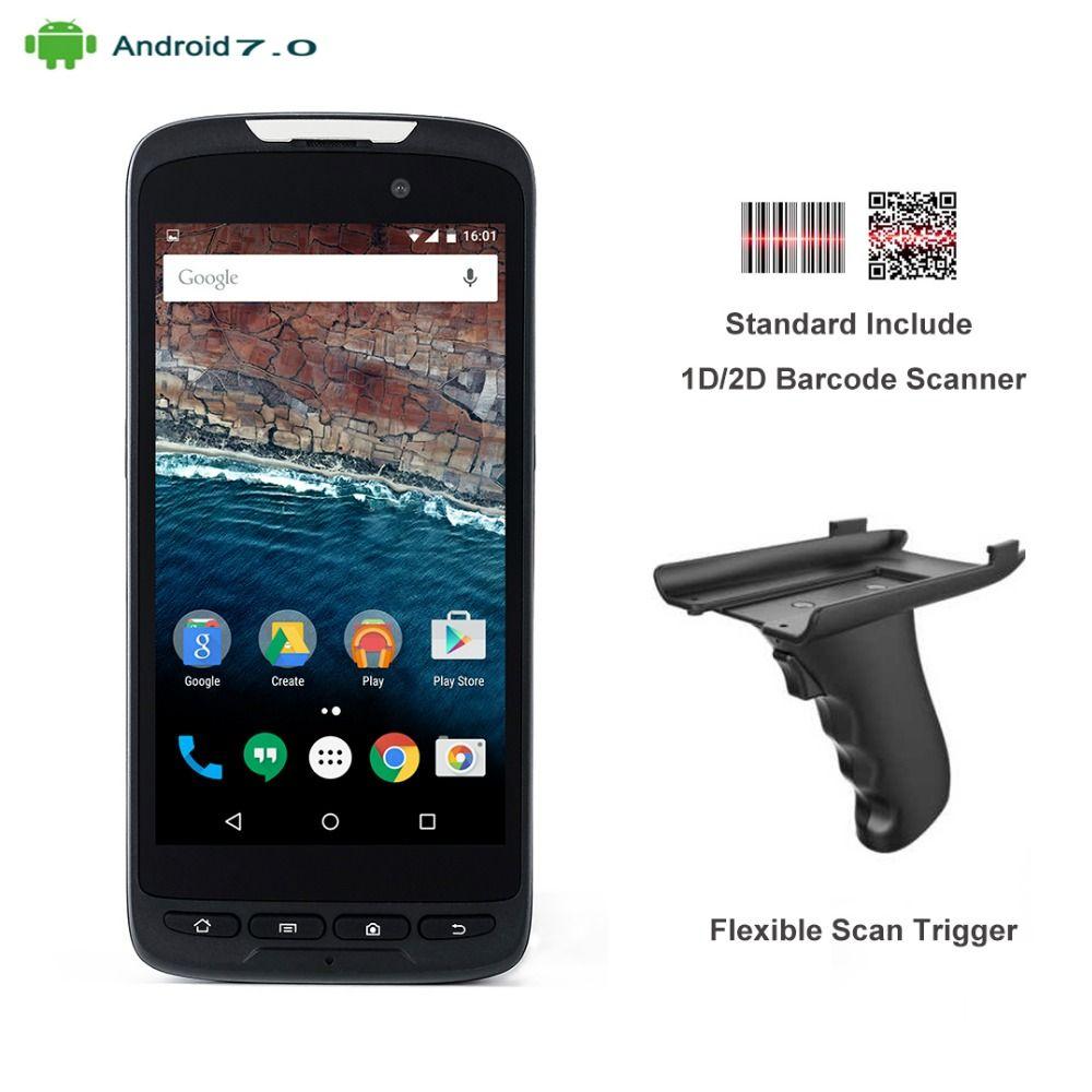 2018 RUGLINE RT52 2D Laser Barcode Scanner Android 7.0 4G Lte Handheld Data Collector PDA Terminal Fingerprint Reader Waterproof