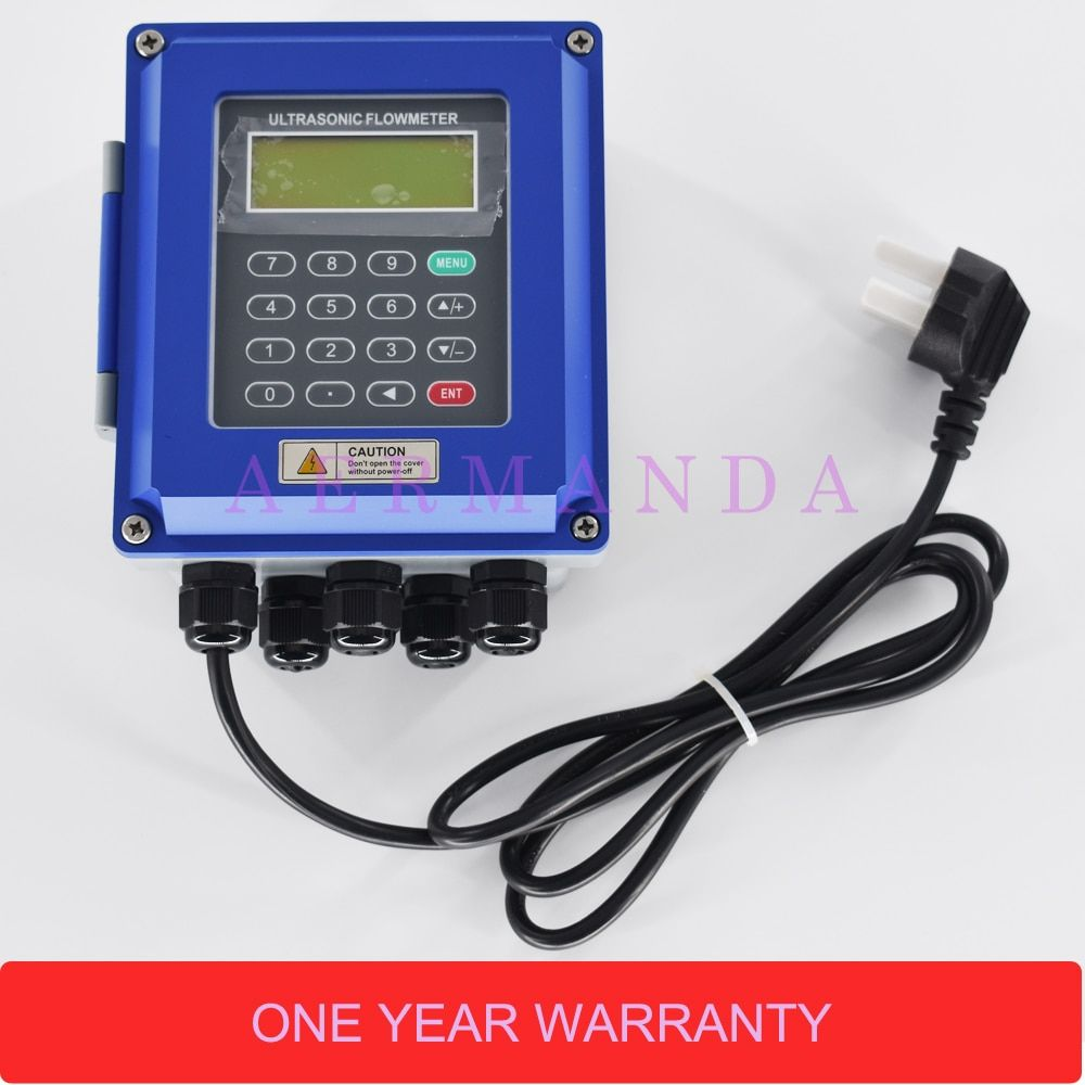 Ultrasonic liquid flow meter RS485 Modbus New TUF-2000B 4-20mA analog output wall-mounted DN50-700mm for industrial control