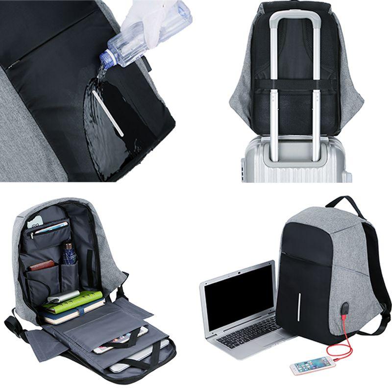 Men Anti theft Backpack USB Charging 15.6 Laptop Backpack Multifunction Waterproof Travel Bagpack women High Quality School bag