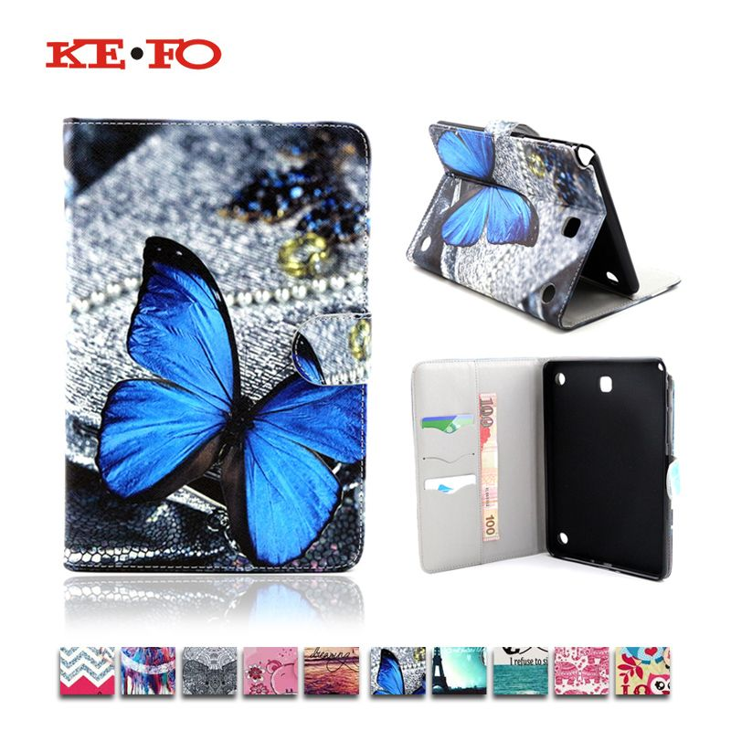 Print Design Case for Galaxy Tab A 8.0 Leather Cover For Samsung Galaxy Tab A 8.0 SM-T350 T351 T355 SM-T355 Tablet Accessories