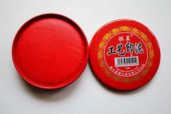 Kaligrafi Cap Vermilion Bantalan Tinta Seal Lukisan Tinta Merah Paste Cina Yinni Pad