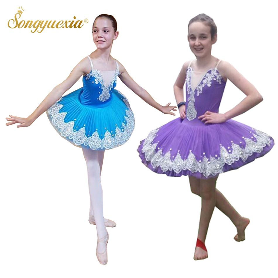 2017, Songyuexia, детский и взрослый, профессиональное синее балетное танцевальное платье, слоеная юбка, костюм, юбка-пачка, для детей