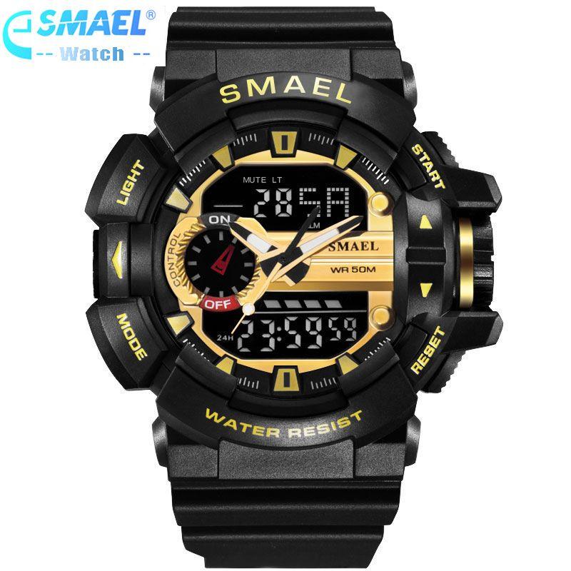 Светодиодный цифровые часы Для мужчин спортивные наручные Часы 2017 часы Известный Бренд роскошные smael электронный цифровые часы Relogio,