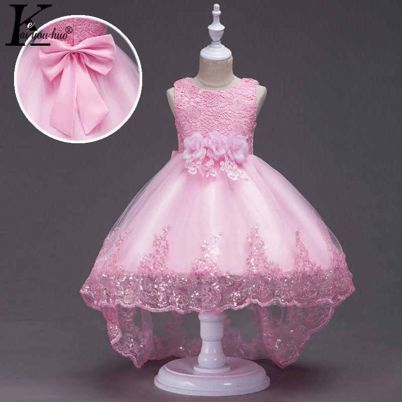 Nouvelle princesse filles robe d'été fête enfants robes pour filles vêtements sans manches robe de mariée enfants vêtements Costume pour enfants