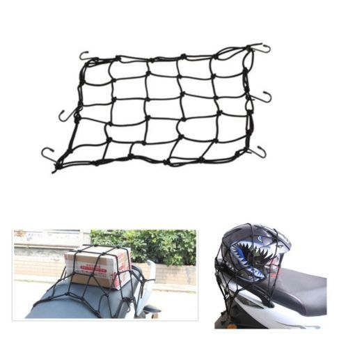 40x40cm New Motorbike Motorcycle Helmet Bungee Luggage Cargo 6 Hooks Net Hold Down 4 color Available