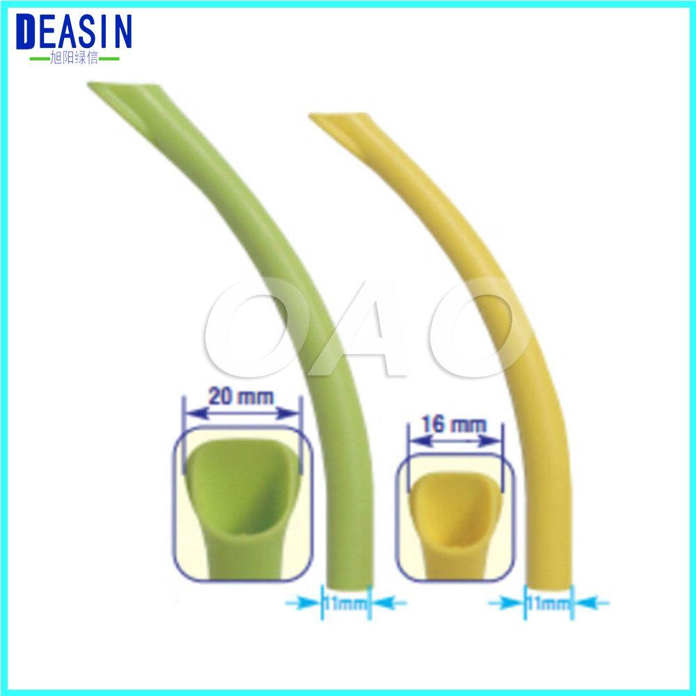 10 stücke Dental Zubehör Starke Saugen Tipps/Kunststoff starken Sog Düse Dental Material Oral einweg Autoklavierbar
