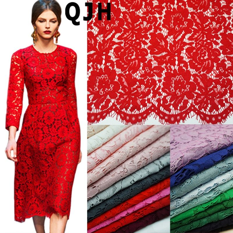 1.5*1.5meters Embroidery Eyelash Cotton Lace Fabric French Cord Lace Cloth Nigerian African Guipure Lace For <font><b>Party</b></font> Wedding Dress
