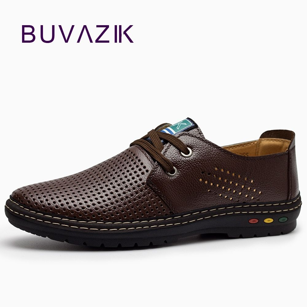 Genuine Leather Men casual shoes Summer 2018 Breathable Soft <font><b>Driving</b></font> Men's Handmade chaussure homme Net Surface Loafers
