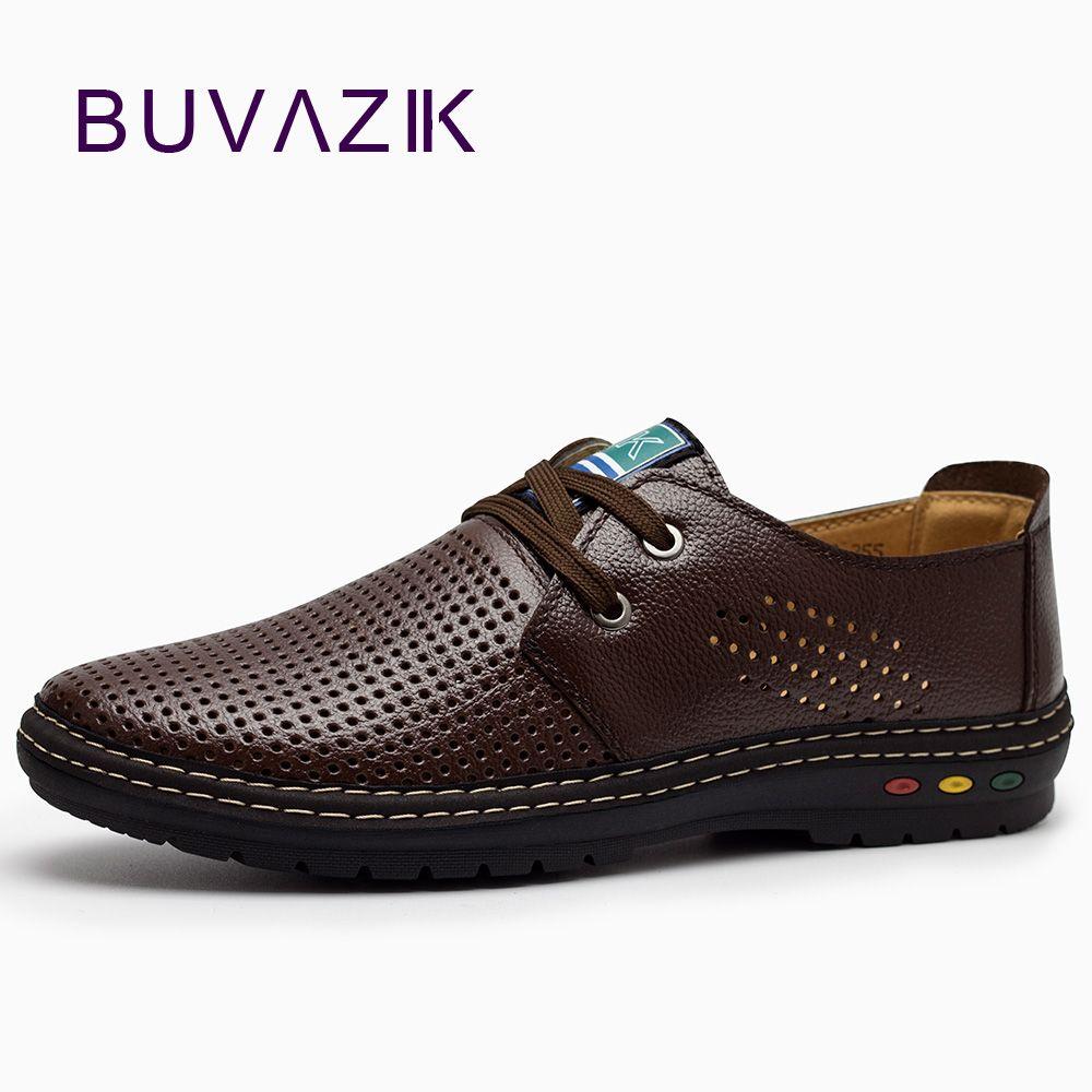 Véritable cuir hommes chaussures décontractées été 2018 respirant doux conduite hommes à la main chaussure homme Net Surface mocassins