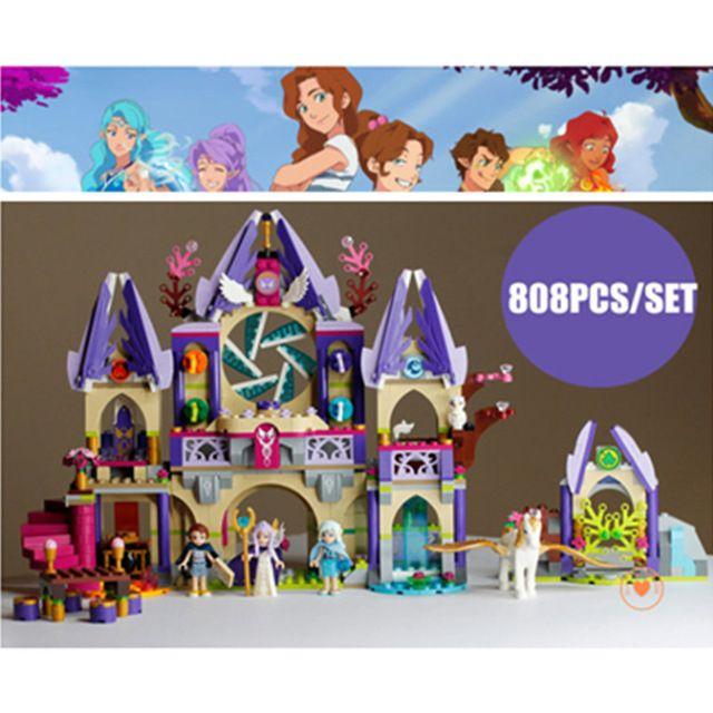 Nouveau ciel mystérieux de Skyra château fit legoings fées elfes figures amis 41078 blocs de construction conte de fées filles jouet cadeau enfant