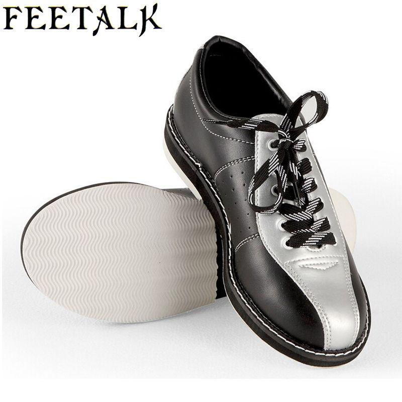 Feetalk Unisex Bowling Shoes men women Skidproof Sole Professional Sports Bowling Shoes slip sneakers 006