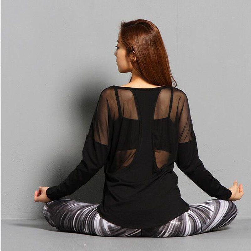 Women Yoga Top Women Yoga Shirts Long Sleeve Gym Shirts Fitness Clothing Shirt Female Sports Tops Women Sport Shirt