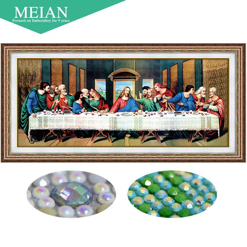 Meian 3D DIY Diamant Stickerei, 5D Diamant malerei, Diamant mosaik, Letzte abendmahl, hand, Handwerk, weihnachten, decor