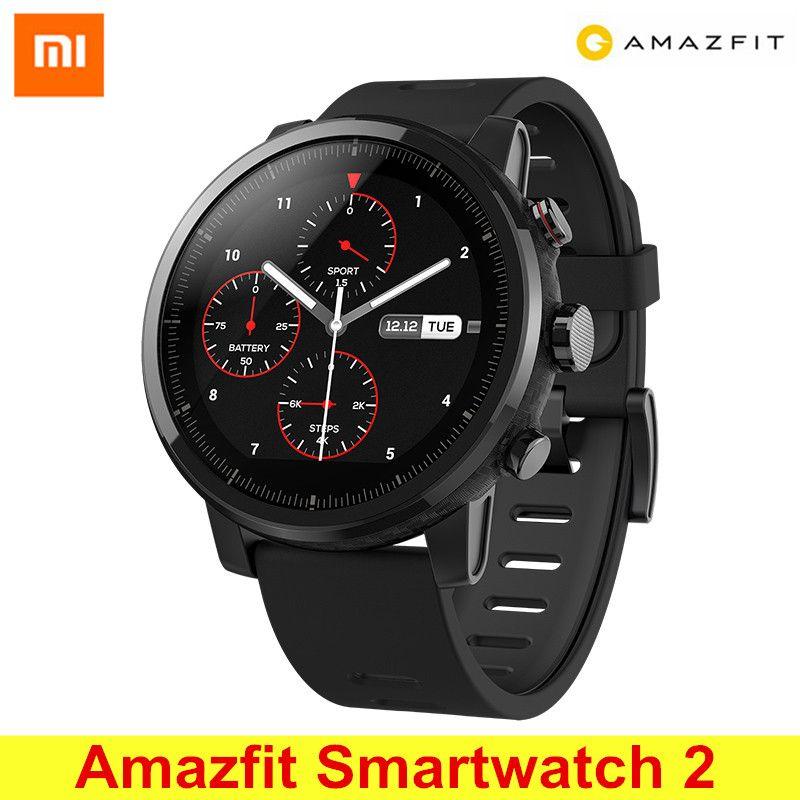 Huami Amazfit Smartwatch 2 de Course Montre GPS Xiaomi Puce Bluetooth 4.2 Montre Smart Watch Bidirectionnel Anti-perdu pour iOS Android