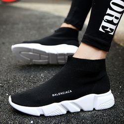 Más tamaño 36-44 mujeres jóvenes populares botas de moda primavera y verano transpirable marca cómodas zapatillas Zapatos casuales de luz