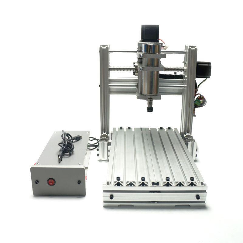 DIY 2520 3 axis 4 axis cnc engraving machine for wood stone mini lathe