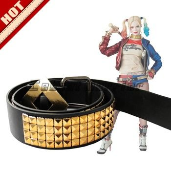 Hot NEW Suicide Squad Harley Quinn clown belt accessories cosplay belt  accessory Sashes