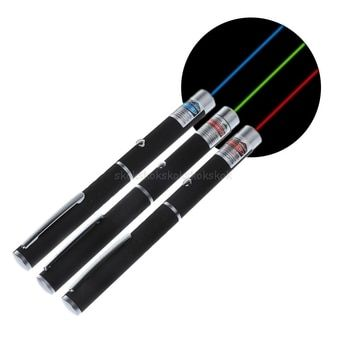 Мощные красные, пурпурные, зеленые лазерные указки ручка Видимый луч света 5 мВт Lazer 650nm # H029 #