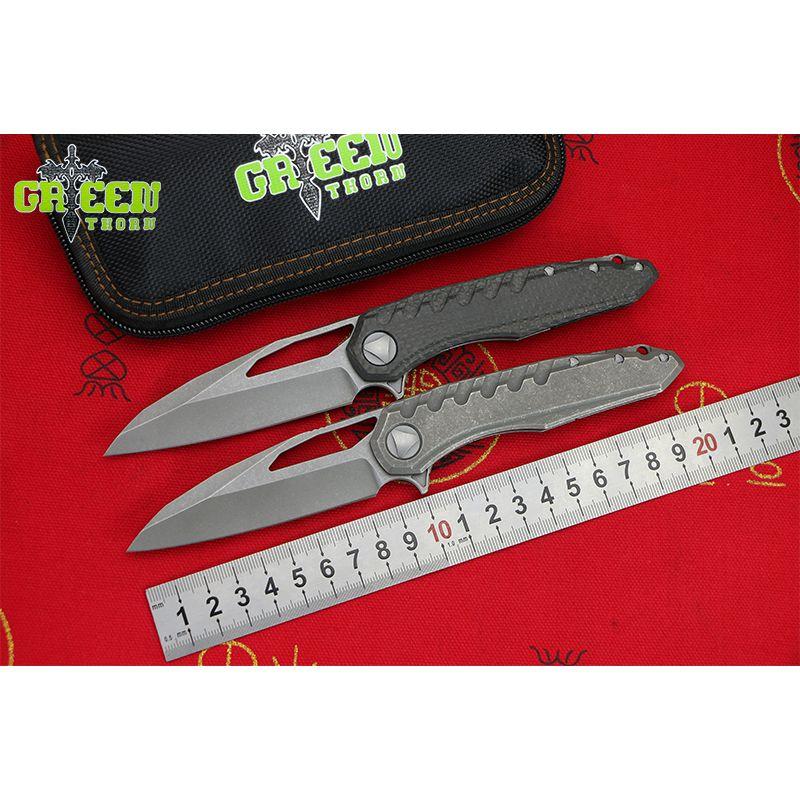 GRÜN DORN marfione M390 klinge titan CF griff Flipper klappmesser Outdoor camping jagd pocke obst messer EDC werkzeuge