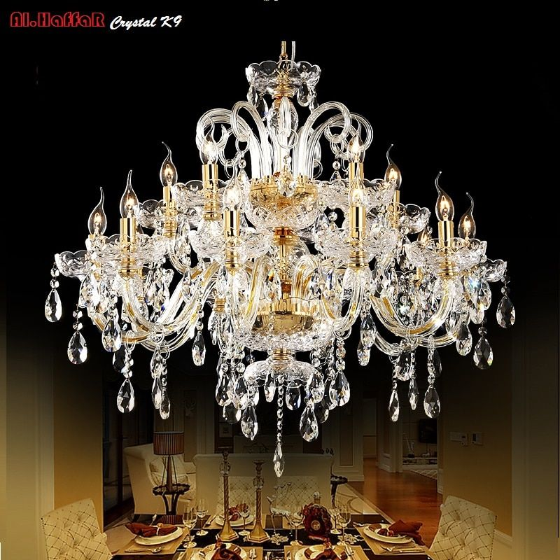 Gold kristall-kronleuchter moderne beleuchtung für wohnzimmer esszimmer Kronleuchter lichter Kristall k9 kronleuchter Kristall Lichter