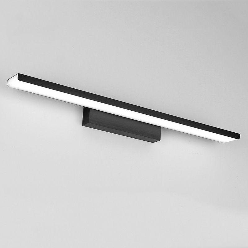 Doré argent noir en aluminium miroir avant lumière led lampe salle de bain acrylique armoire murale applique 110 v 220 v 16 w 410mm