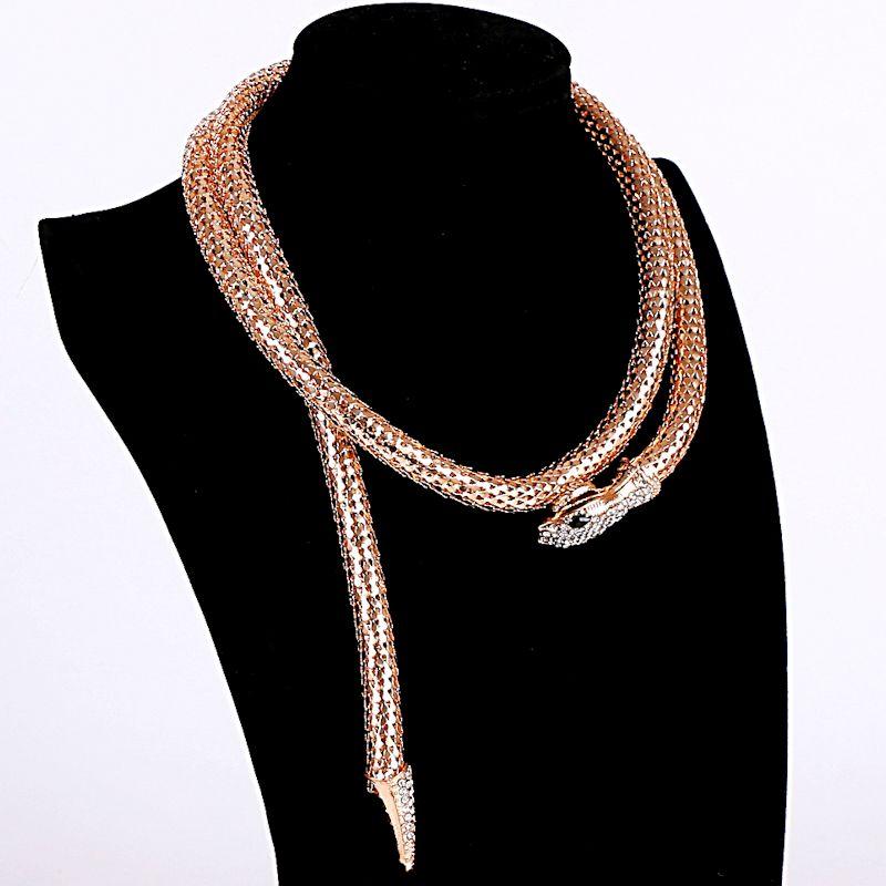2017 Réel Collares Maxi Collier Haute Qualité Or/argent Plaqué Serpent Collier Ras Du Cou pour Femmes Collier Femme Bijoux Bijoux