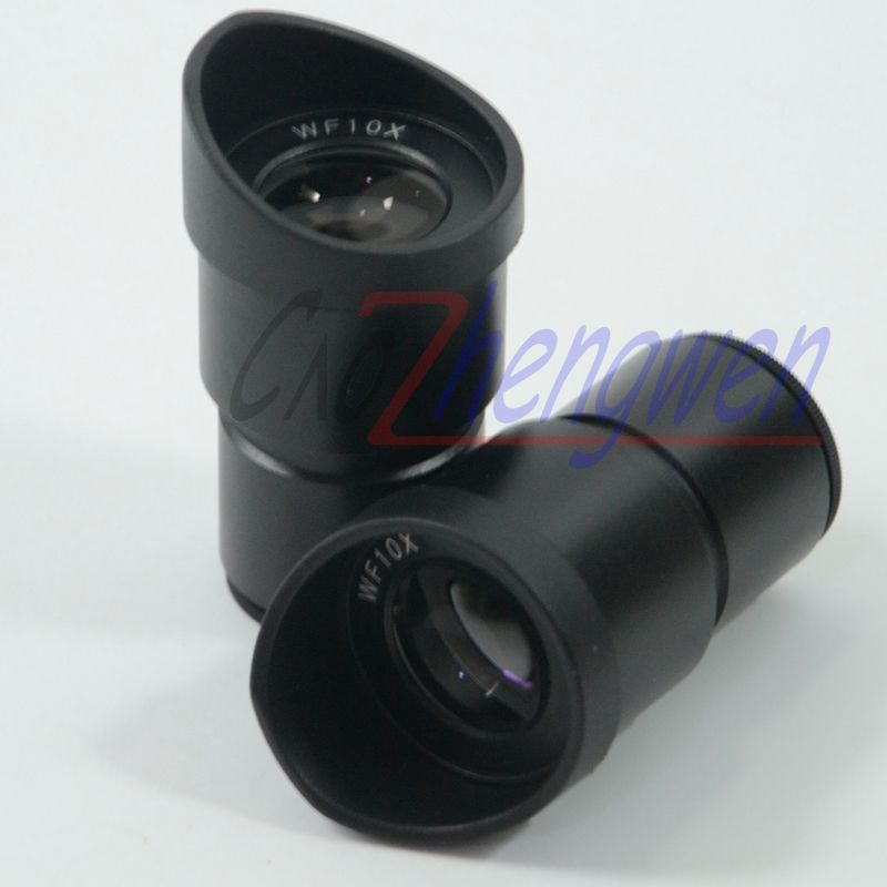 FYSCOPE New Pair widefield WF10X Microscope Eyepieces ACHROMATISM 30MM with eyeguard wide angle lens