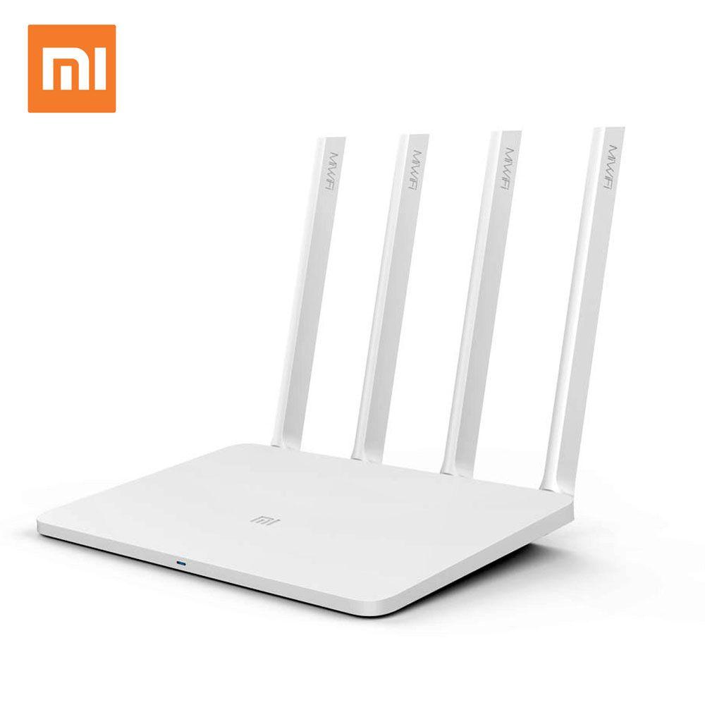 XIAOMI WIFI Routeur 3 Anglais Version WiFi Répéteur 1167 Mbps 2.4g 5 ghz ROM 128 mb Wi-Fi Roteador Sans Fil routeurs APP Contrôle