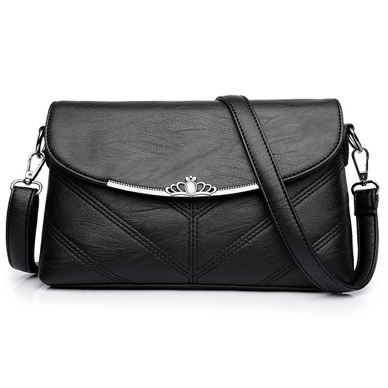 2017 Для женщин Курьерские сумки кожаные Crossbody Сумка Женский SAC основной Винтаж Дамы бренд Сумки конверт мешок