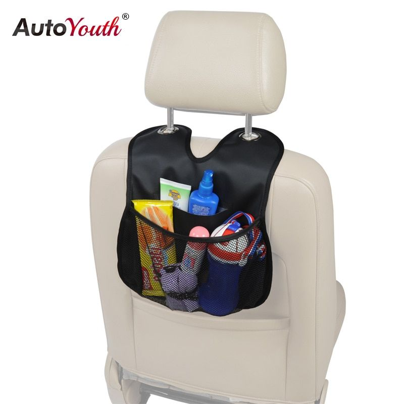 AUTOYOUTH Car Back Seat Organizer 2017 New Arrival PU Leather Multi-Pocket Seat Back Ipad Hanging Bag Storage Bags Car-styling