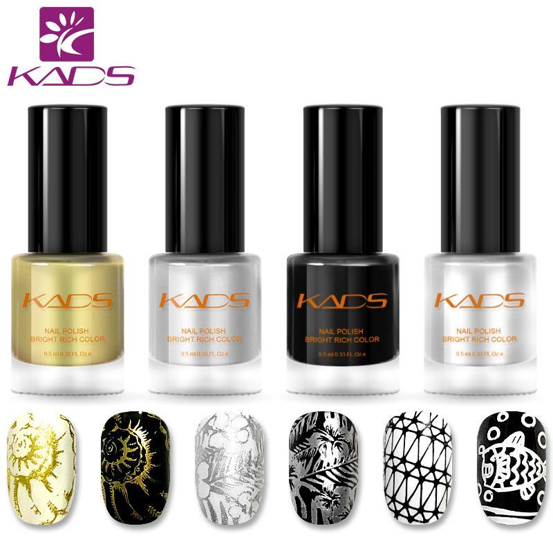KADS New Arrival Classic Nail Polish Color Nail Stamping Polish Two In One Nail Polish Set 4PCS Nail Stamping Lacquer