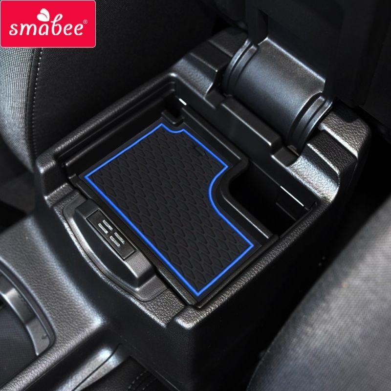 Smabee pad de fente de porte pour Ford FOCUS RS ST 2015-2017 automobile intérieur tapis antidérapants rouge/bleu/blanc/noir 18 pièces