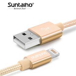 Suntaiho Pour iPhone X 7 8 6 Plus 6 S 5 USB Chargeur Nylon Tressé Câble Pour Éclairage Rapide De Charge Data Sync Mobile Téléphone Câble