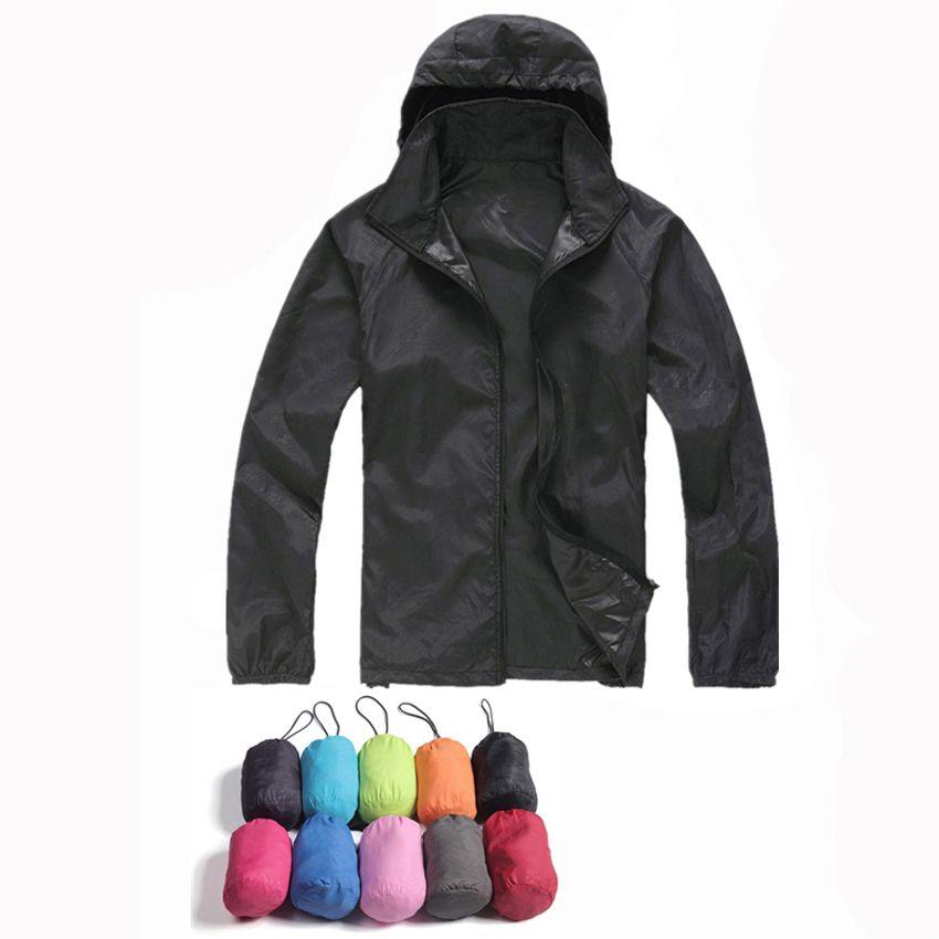 2017 nouveau hommes femmes vestes décontractée coupe-vent Ultra-léger veste hommes armée coupe-vent séchage rapide peau manteau