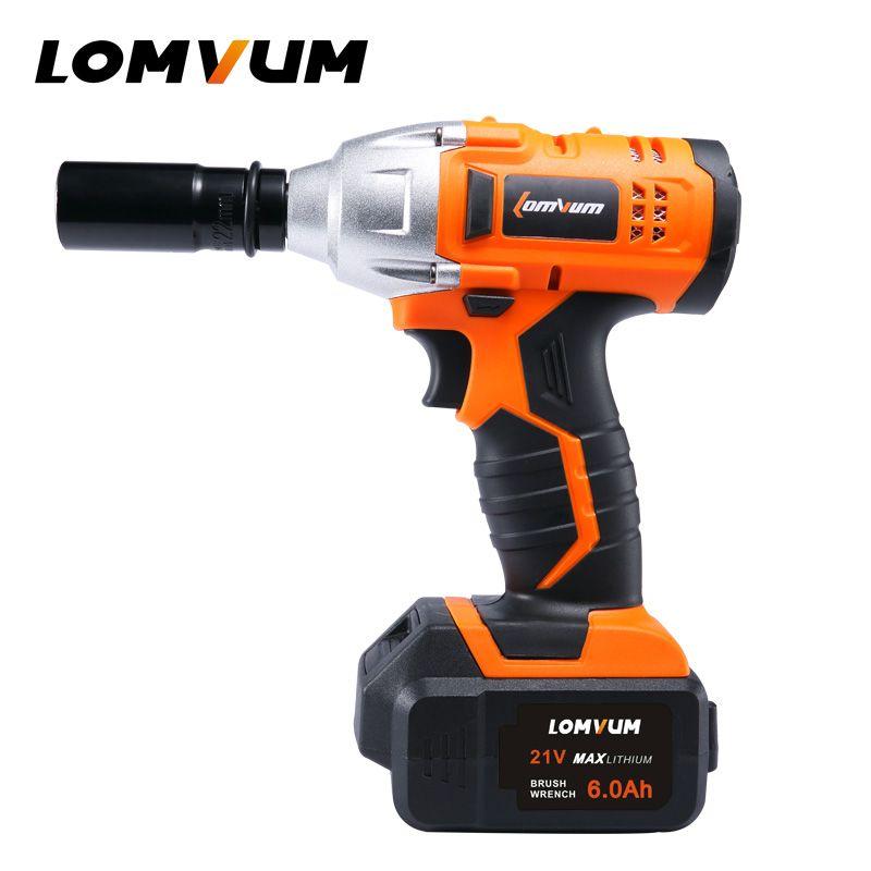 LOMVUM clé sans cadre 280N. m roue outil hilti sans fil électrique clé à chocs écrou clés à vis pistolet avvitatore ad impulsi
